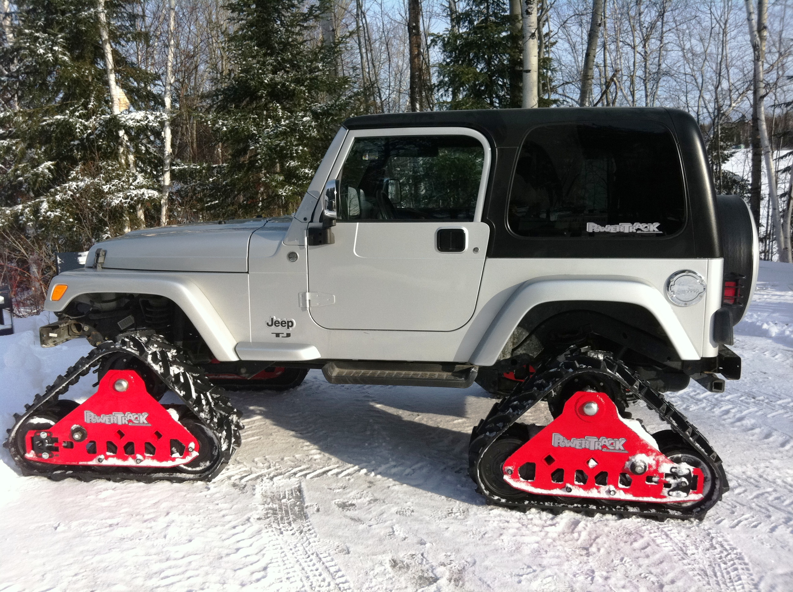 mountain grooming equipment powertrack track systems for trucks